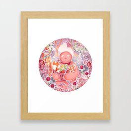 Jelly in Forest Framed Art Print