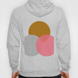abstract circles - yellow pink grid Hoody