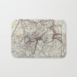 Vintage Map of Arizona (1911)  Bath Mat