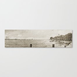 Dreaming of the Ole' Bay - Panoramic View Canvas Print