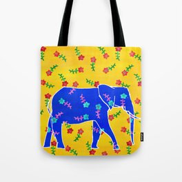 Elephant - blue Tote Bag