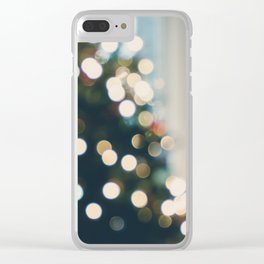 Xmas Tree Lights Clear iPhone Case