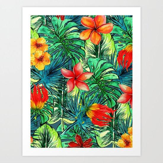 My Tropical Garden Art Print
