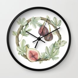 Fig Wreath Wall Clock