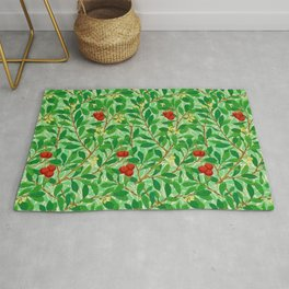 William Morris Lychee Tree Pattern, Light Jade Green Rug