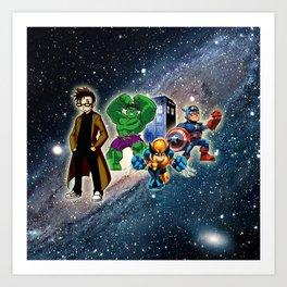Tardis Super Hero Art Print