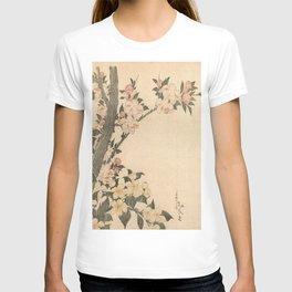 Hokusai, flowers of a cherry-tree- manga, japan,hokusai,japanese,北斎,ミュージシャン T-shirt