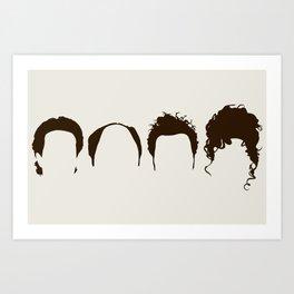 Seinfeld Hair Art Print