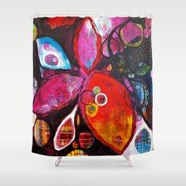 Midnight Flower Shower Curtain