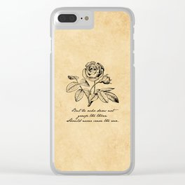 Anne Bronte - Crave the Rose Clear iPhone Case