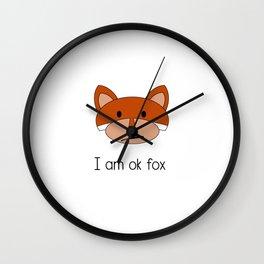 Ok Fox Wall Clock