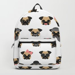 Pugs in Disguise Pattern Backpack