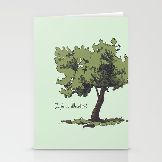 Life is Beautiful Olive Tree Stationery Cards