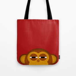 Pocket monkey is highly suspicious Tote Bag