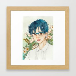 Portrait of Yuri Katsuki Framed Art Print