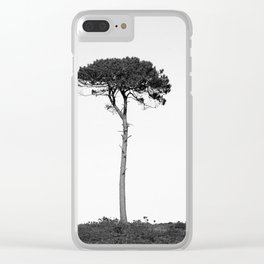 Nature in black and white Clear iPhone Case