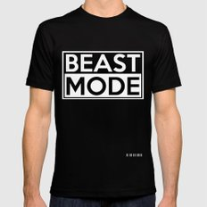 BEAST MODE Black Mens Fitted Tee X-LARGE