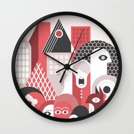 People in the City Wall Clock