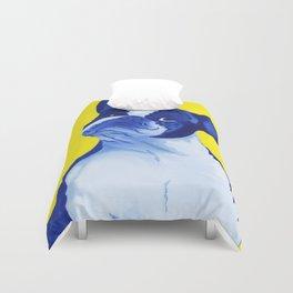 Blue French Bulldog Duvet Cover