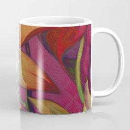 """Retro Giant Floral Pattern"" Coffee Mug"