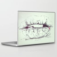 cracked Laptop & iPad Skins featuring Cracked by Fausta Miezytė