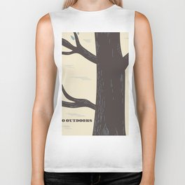 Go Outdoors Tree poster Biker Tank