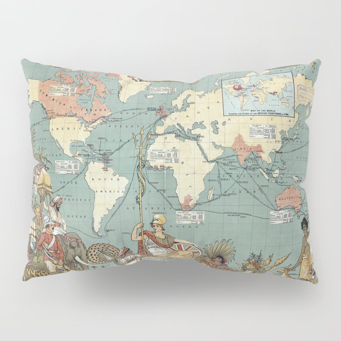 The British Empire 1886 Pillow Sham