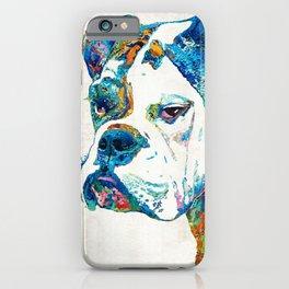 Colorful English Bulldog Art By Sharon Cummings iPhone Case