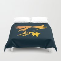 phoenix Duvet Covers featuring Phoenix by Dale J Cheetham