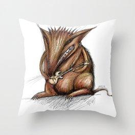 RockRat Throw Pillow