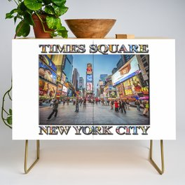 Times Square Sparkle (with typography) Credenza