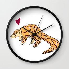 Lovely Little Pangolin Wall Clock