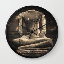 Beheaded Bhudda Wall Clock