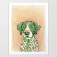 Pointer dog - Jola 02 Art Print
