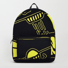 K. Allen Society6 Haring Bespoke PopArt UNTITLED Bristol Board Art 1980 Space X Backpack