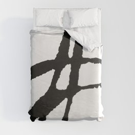 0523: a simple, bold, abstract piece in black and white by Alyssa Hamilton Art Duvet Cover