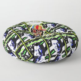 The 80's War On Drugs Remixed Floor Pillow