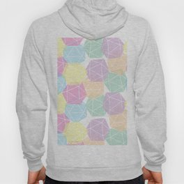 Pastel D20 Pattern Dungeons and Dragons Dice Set Hoody