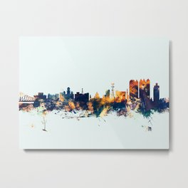 Calcutta Kolkata India Skyline Metal Print