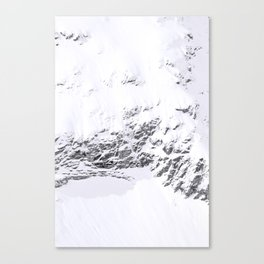 Abstract snowy swiss mountains - winter Alps photography Canvas Print