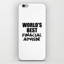 financial adviser iPhone Skin