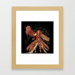 one winged angel Framed Art Print