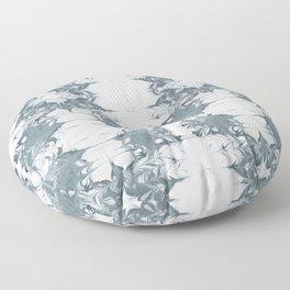 Haru - spilled ink modern abstract marble painting indigo ink splash swirl ocean waves water sea Floor Pillow