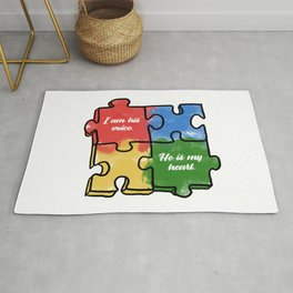 Autism Child Love Puzzle Asperger-Syndrome Gift Rug