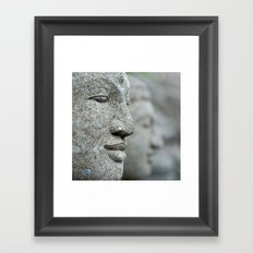 An echo of here and now Framed Art Print