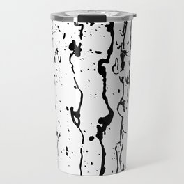 poured paint blots black and white Travel Mug