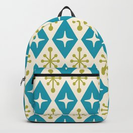 Mid Century Modern Atomic Triangle Pattern 108 Backpack