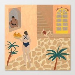 LIDO SWIMWEAR - Caffè della Spiaggia Canvas Print