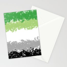 Aromantic Flag Swirls Style Graphic Design Stationery Cards