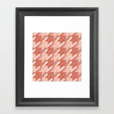 lobster houndstooth Framed Art Print
